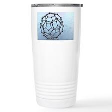 Buckminsterfullerene molecule Travel Mug