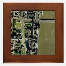 Palace of Westminster, aerial Framed Tile