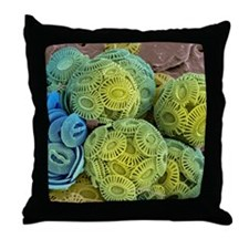 Calcareous phytoplankton, SEM Throw Pillow