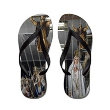 Detail of religious icons arranged in a Flip Flops