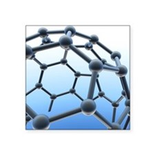 "Buckminsterfullerene molecu Square Sticker 3"" x 3"""