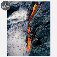 Pahoehoe lava flow from Kilauea volcano, Ha Puzzle