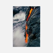 Pahoehoe lava flow from Kilauea v Rectangle Magnet