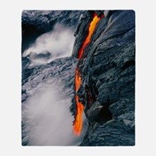 Pahoehoe lava flow from Kilauea volc Throw Blanket