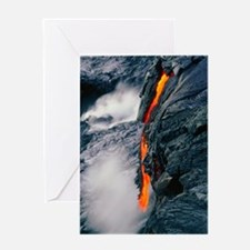 Pahoehoe lava flow from Kilauea volc Greeting Card