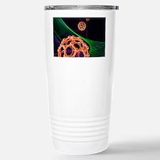 Buckyball molecules, artwork Travel Mug