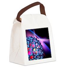 Buckyball molecule, artwork Canvas Lunch Bag