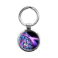 Buckyball molecule, artwork Round Keychain