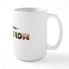 Flat-Out Love - The Book - Long Logo Ceramic Mugs