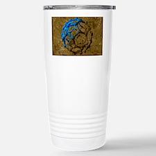 Buckyball molecule, artwork Travel Mug