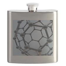 Buckminsterfullerene molecule Flask