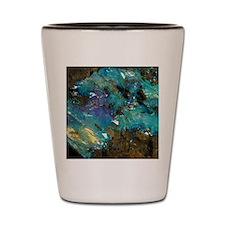 Opal on bedrock Shot Glass