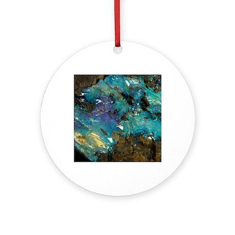 Opal on bedrock Round Ornament
