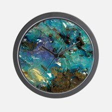 Opal on bedrock Wall Clock