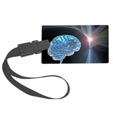 Brain research, conceptual artwo Luggage Tag