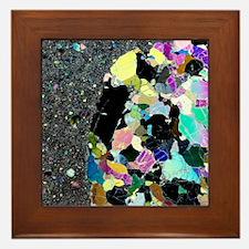 Olivine inclusion in basalt Framed Tile
