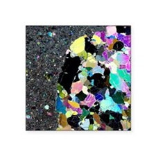 """Olivine inclusion in basalt Square Sticker 3"""" x 3"""""""