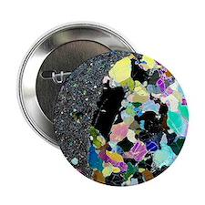 "Olivine inclusion in basalt 2.25"" Button"