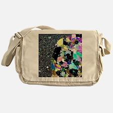 Olivine inclusion in basalt Messenger Bag