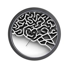 Brain complexity, conceptual artwork Wall Clock