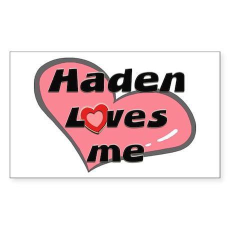 haden loves me Rectangle Sticker
