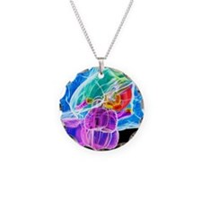 Brain anatomy, artwork Necklace