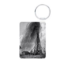 Oil well, 19th century Keychains