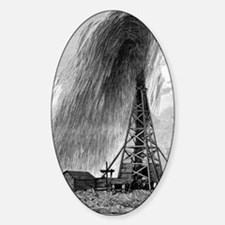 Oil well, 19th century Decal