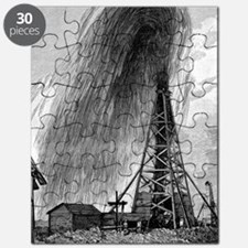 Oil well, 19th century Puzzle
