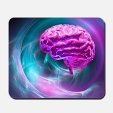 Brain research, conceptual artwork Mousepad