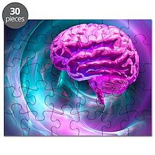 Brain research, conceptual artwork Puzzle