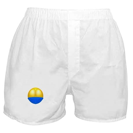 Smilie Butt Crack Mooning Boxer Shorts