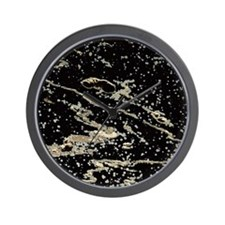 Obsidian rock Wall Clock
