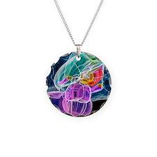 Brain anatomy, artwork Necklace