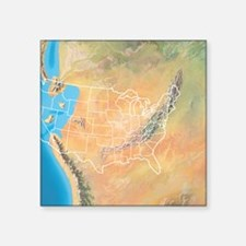 "North America, Triassic per Square Sticker 3"" x 3"""