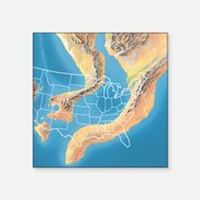"North America, Devonian per Square Sticker 3"" x 3"""