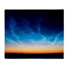 Noctilucent clouds Throw Blanket