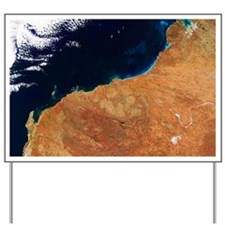 Northwestern Australia, satellite image Yard Sign