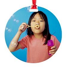 Blowing bubbles Ornament