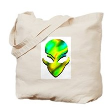 Yellow and Green Alien Tote Bag