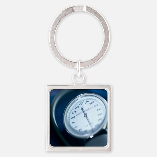 Blood pressure gauge Square Keychain