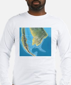 North America, Mid Cretaceous  Long Sleeve T-Shirt