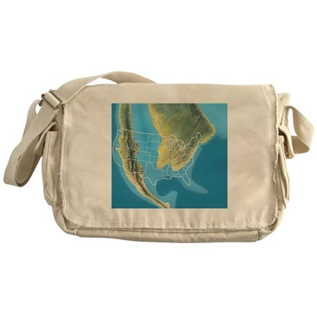 North America, Mid Cretaceous period Messenger Bag by ...