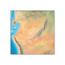 """North America, Triassic per Square Sticker 3"""" x 3"""""""