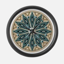 Native american Rosette 08 Large Wall Clock