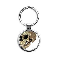 Neanderthal skull Round Keychain