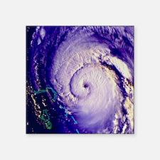 "NOAA satellite image of hur Square Sticker 3"" x 3"""
