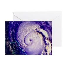 NOAA satellite image of hurricane Fr Greeting Card