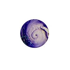 NOAA satellite image of hurricane Fran Mini Button