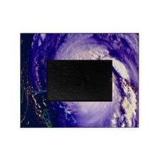 NOAA satellite image of hurricane Fr Picture Frame